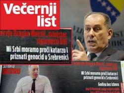 Mektić: Mi Srbi moramo proći katarzu i priznati genocid u Srebrenici