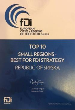 Republici Srpskoj  dodijeljena nagrada Fajnenšl Tajmsa