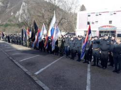 Višegrad: Ravnogorci položili cvijeće na Spomenik palim borcima