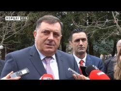 Dodik u Trebinju: Konačni koalicioni dogovori u naredne dvije sedmice (VIDEO)
