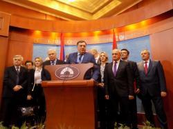 POTPISAN KOALICIONI SPORAZUM SNSD, DNS, SP - Dodik: Garantujem veliku pobjedu naše koalicije