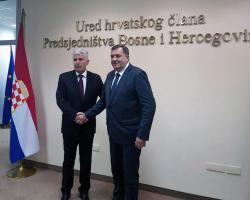 Dodik i Čović dogovorili koaliciju SNSD-a i HDZ-a BiH nakon izbora