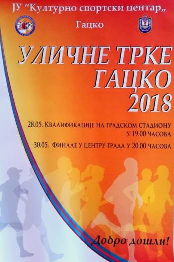 Најава: Уличне трке  'Гацко 2018'