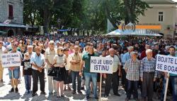 Više hiljada Trebinjaca na   današnjem protestu za Marka