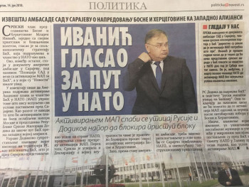 'Ivanić glasao za put u NATO'