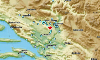 Zemljotres uznemirio građane Mostara