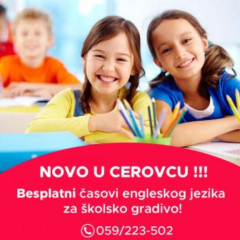 НОВО: Бесплатни часови енглеског језика у Церовцу!