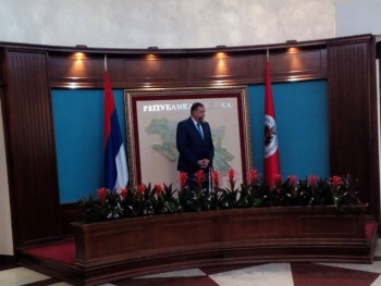 ODLIKOVANJA POVODOM VIDOVDANA: Dodik uručio Orden Republike Srpske na lenti Vojsci i MUP-u Srbije