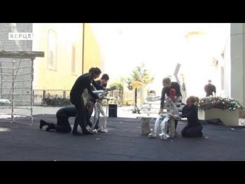 Lutkarski performans u centru grada oduševio Trebinjce (VIDEO)