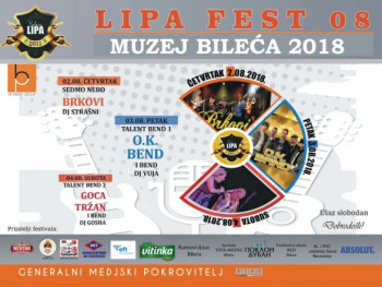 'LIPA fest' u Bileći od 2. do 4. avgusta