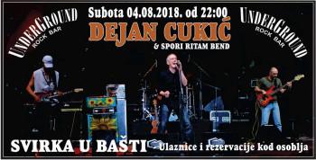 Svirka u bašti: Dejan Cukić i Spori ritam bend u subotu u Underground rock baru
