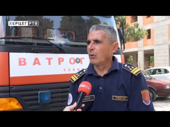 Trebinjski vatrogasci od požara brane sela Zaplanik, Orah i Cerovac (VIDEO)