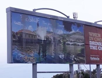 Ponovo uništen bilbord grada Trebinja u Dubrovniku