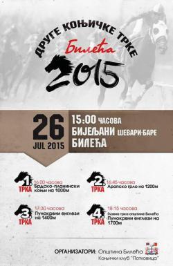"""Najava: 26. jula održaće se """"Druge konjičke trke Bileća 2015"""""""