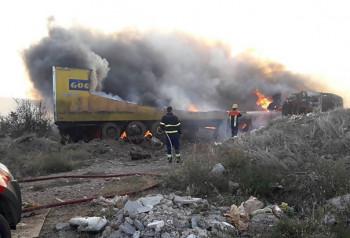 Izgorio kamion, vozač nastradao