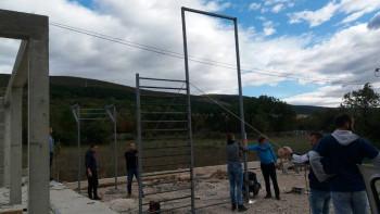 Bileća: U toku radovi na izgradnji teretane na otvorenom u naselju Jezerine