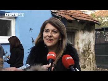 Počelo uređenje dvorišta Narodne biblioteke Trebinje (VIDEO)