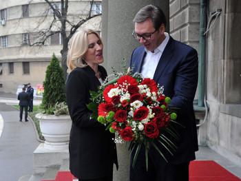 Cvijanovićeva zahvalila Vučiću za podršku Srpskoj