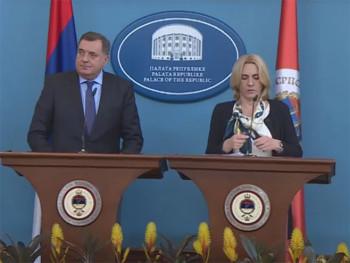 Cvijanović - Dodik: Povlačenje srpskih kadrova iz ambasada DKP sa 16 lokacija