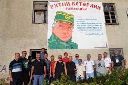 Grafit Ratka Mladića na kasarni u Nevesinju