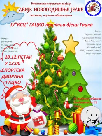 Gacko: Novogodišnja predstava za djecu