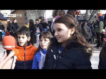 Dječija Nova godina u Trebinju (VIDEO)
