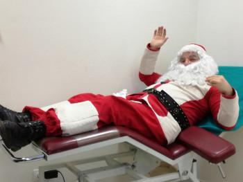 Trebinje: Djed Mraz prvi davalac krvi i u ovoj godini