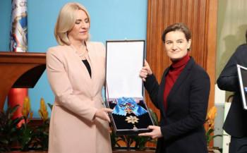 Predsjednik Republike Srpske odlikovala Brnabićevu, Ivancova, te posthumno generala Lisicu