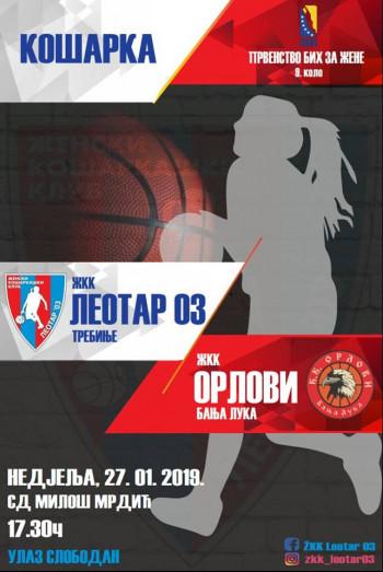 Malene sutra dočekuju ekipu Orlova iz Banjaluke