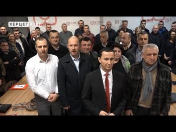Počela predizborna kampanja u Trebinju, Mirko Ćurić: Nastavljamo sa radom (VIDEO)