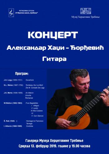 U Muzeju Hercegovine sutra koncert Aleksandra Hadži-Đorđevića