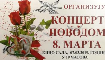 Gacko:  Koncert povodom 8. marta