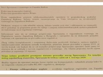 Predsjedništvo BiH podržalo potpisivanje sporazuma o smanjenju cijene rominga