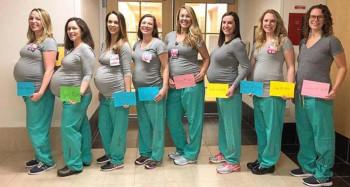 Devet medicinskih sestara s istog odjeljenja rodiće u razmaku od nekoliko sedmica