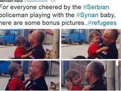Srpski policajac koji grli sirijskog dječaka oduševio svijet