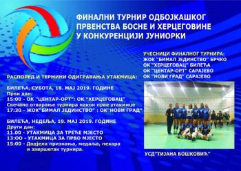 Билећа: Финални турнир одбојкашког Првенства БиХ у конкуренцији јуниорки