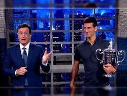 Novak oduševio publiku u emisiji kod Stivena Kolbera (VIDEO)