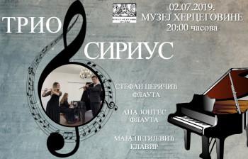 Najava: Koncert kamerne muzike TRIO SIRIUSA
