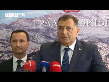 Sastanak Dodika i Ćurića u Trebinju (VIDEO)
