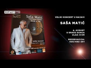 U prodaji ulaznice za koncert Saše Matića (VIDEO)
