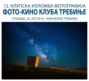 Najava: 12. klupska izložba fotografija članova Foto-kino kluba Trebinje