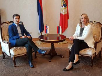 Sastanak Cvijanovićeve i Brnabićeve u Beogradu