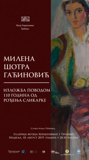 Најава: Изложба поводом 110 година од рођења сликарке Милене Шотра Гаћиновић