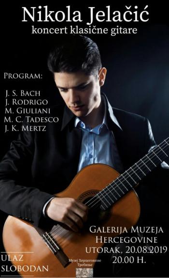 Вечерас концерт Николе Јелачића