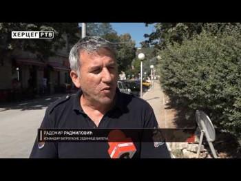 Manji požar na području Bileće (VIDEO)