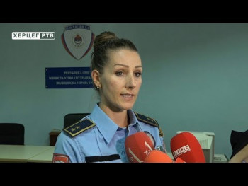 Gorio automobil zamjenika načelnika PU Trebinje (VIDEO)