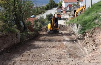 Gacko: U toku rekonstrukcija ulice Alekse Šantića
