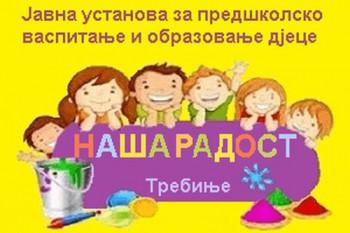 JU 'Naša Radost' Trebinje: Javni poziv za prijavu djece u Program pripreme u godini pred polazak u školu