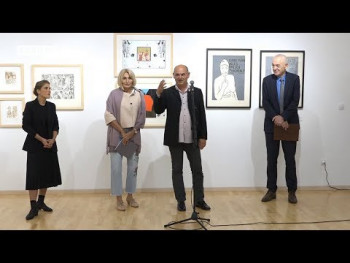 Trebinje: Izložba grafičkih radova 'Pogled u centar' otvorena do kraja oktobra (VIDEO)