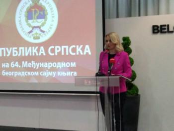 Ministarka Trivić besjedom otvorila nastup Srpske na Sajmu knjige u Beogradu